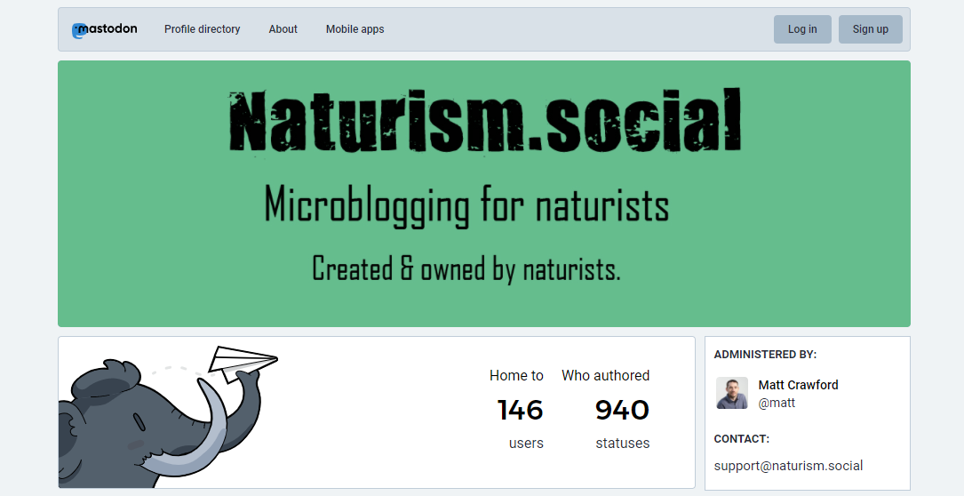 New Mastodon Instance for Naturists